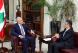 President Sleiman received Télé Liban Board Head General Director
