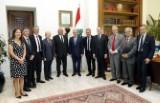 President Sleiman met with the Lebanese-French Friendship Committee head