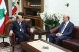 """عرض الرئيس عون مع رئيس """"القوات اللبنانية"""" الدكتور سمير جعجع الأوضاع الراهنة والاتصالات الجارية لتشكيل حكومة جديدة"""