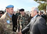 President Sleiman visited the headquarters of the UNIFIL in South Lebanon and the military base of Tyre.
