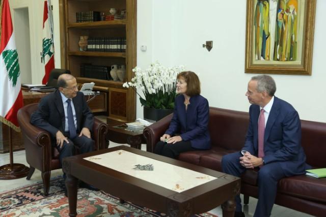 السفيرة الاميركية في لبنان السيدة اليزابيت ريتشارد